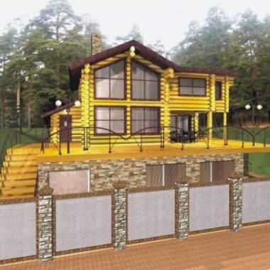 Индивидуальный трехэтажный коттедж, пос. Таватуй, ул. Лесная